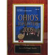Jacintha Kraft Balch, JD, has been named one of Central Ohio's top lawyers in CEO Magazine for 2009 through present